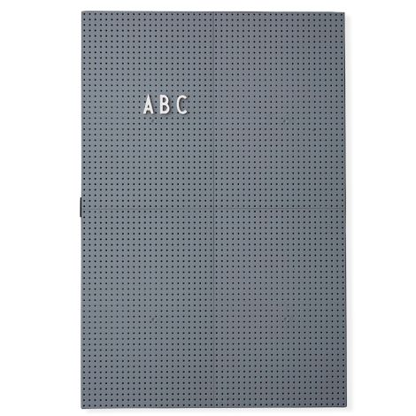 Design Letters Pinnwand Message Board A3 Dark Grey •