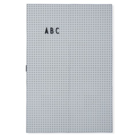 Design Letters Pinnwand Message Board A3 Light Grey •