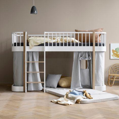 Oliver Furniture Vorhang für halbhohes Hochbett Wood Grau