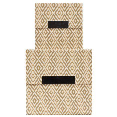 House Doctor Aufbewahrungsbox Rhomb Beige 2er-Set