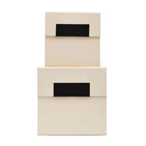 House Doctor Aufbewahrungs-Box Birch Beige 2er-Set
