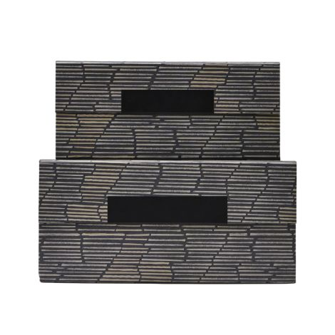 House Doctor Aufbewahrungs-Box Stripe 2er-Set