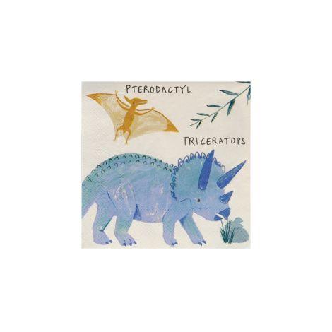 Meri Meri Papierserviette Dinosaurier Königreich Klein 16 Stk.