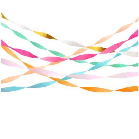 Meri Meri Papierschlangen Hell Crepe 7er-Set