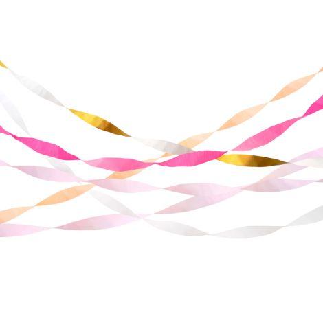 Meri Meri Papierschlagen Pink Crepe 5er-Set