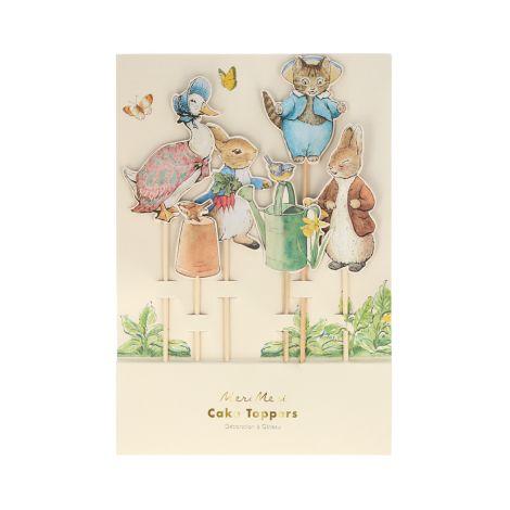 Meri Meri Tortendekoration Peter Rabbit & Friends 6-teilig