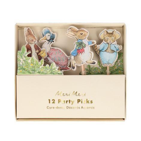 Meri Meri Partyspieße Peter Rabbit & Friends 12-teilig