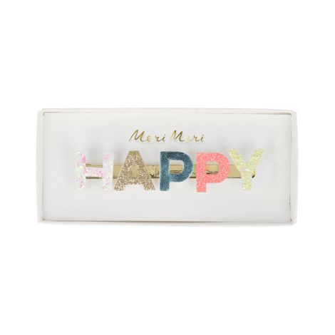 Meri Meri Haarclip Happy Glitzer