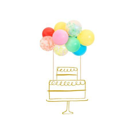 Meri Meri Torten-Dekoration Regenbogen Ballon