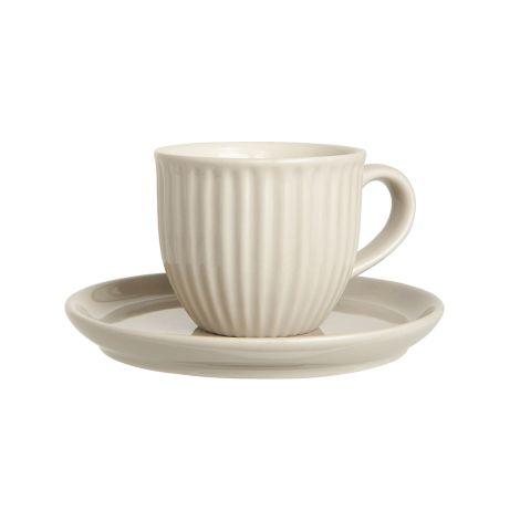 IB LAURSEN Tasse mit Untertasse Mynte Latte •