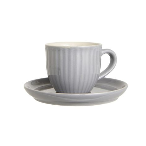 IB LAURSEN Tasse mit Untertasse Mynte French Grey