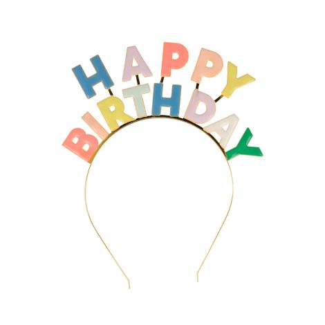 "Meri Meri Haarreifen Emaille ""Happy Birthday"""