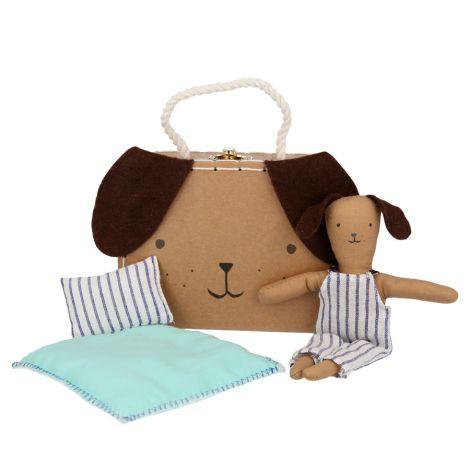 Meri Meri Koffer mit Puppe Mini Hundewelpe