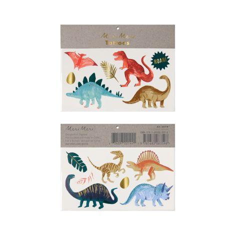 Meri Meri Temporäre Tattoos Dinosaurier Königreich