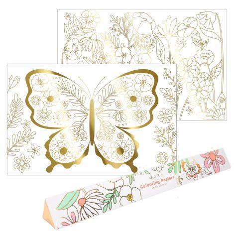 Meri Meri Ausmal-Poster Schmetterling