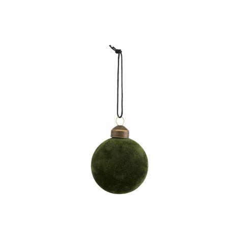House Doctor Deko-Ornament Flock Dunkelgrün 5,5 cm