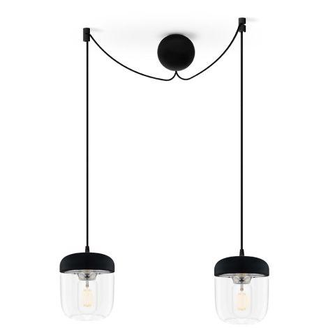 UMAGE - VITA copenhagen Deckenlampe Acorn Black Steel 2er-Set mit Aufhängung