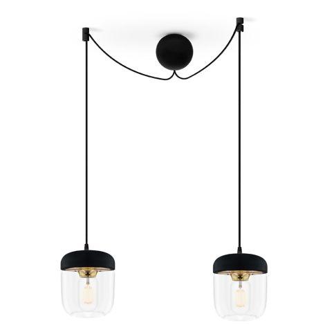 UMAGE - VITA copenhagen Deckenlampe Acorn Black Brass 2er-Set mit Aufhängung