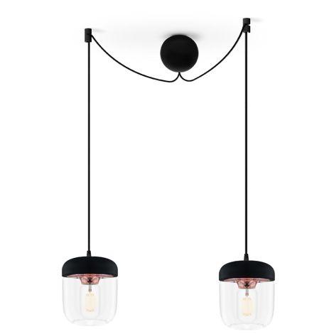UMAGE - VITA copenhagen Deckenlampe Acorn Black Copper 2er-Set mit Aufhängung