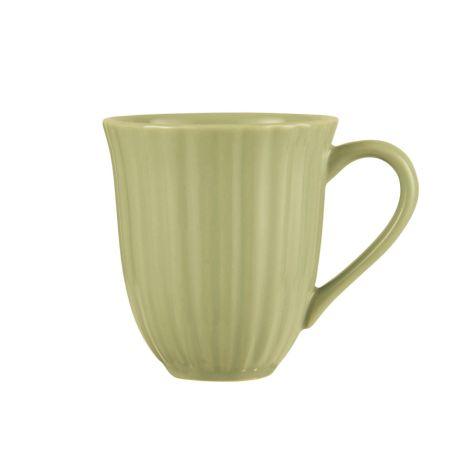 IB LAURSEN Tasse mit Rillen Mynte Herbal Green