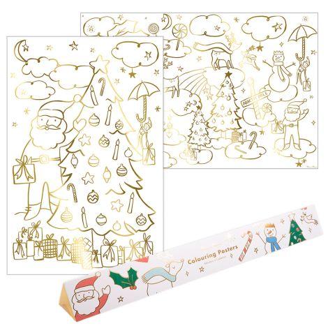 Meri Meri Ausmalbilder Weihnachtsmotive 2er-Set