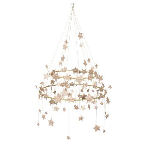 Meri Meri Deko-Kronleuchter Glitzernde Sterne