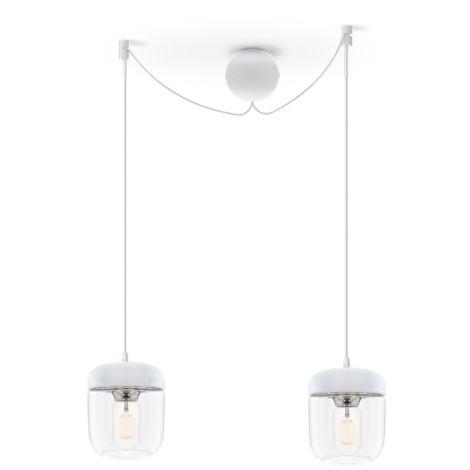 UMAGE - VITA copenhagen Deckenlampe Acorn White Steel 2er-Set mit Aufhängung •