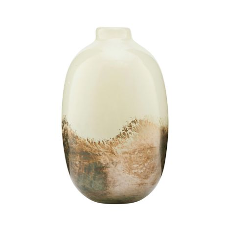 House Doctor Vase Earth Beige/Metallic 16,2 cm