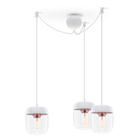 UMAGE - VITA copenhagen Deckenlampe Acorn White Copper 3er-Set mit Aufhängung