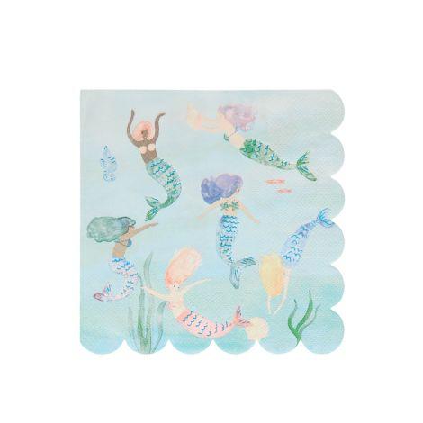 Meri Meri Papierservietten Meerjungfrauen Schwimmen 16 Stk.