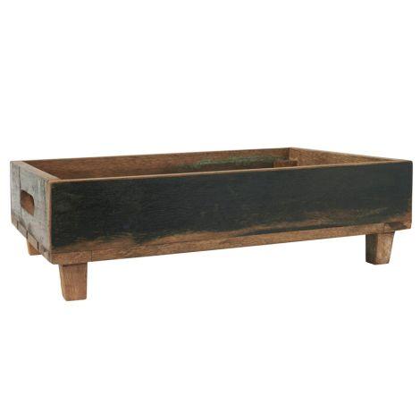 IB LAURSEN Holzkiste auf Füßen UNIKA Stapelbar