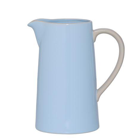 Bloomingville Wasserkrug Olivia Sky Blue/Off White