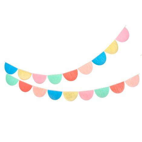 Meri Meri Girlande Regenbogen Seidenpapier Muschel 2er-Set