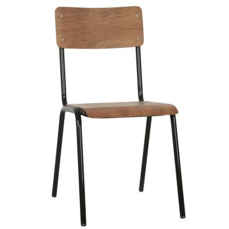 IB LAURSEN Schulstuhl Holz und Metallgestell stapelbar