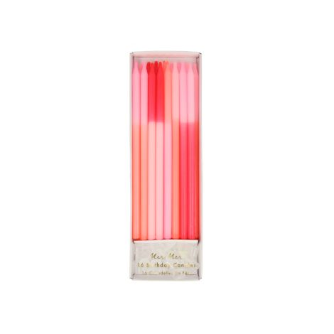 Meri Meri Block Kerzen Pink Colour 16 Stk.