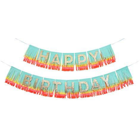 Meri Meri Fransen Girlande Rainbow Happy Birthday