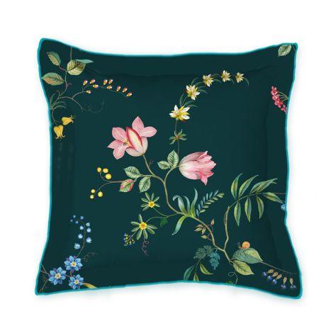 PIP Studio Zierkissen Fleur Grandeur Square Dark Blue 45x45