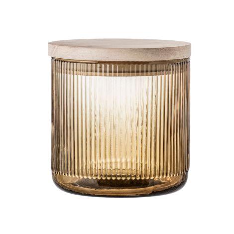bloomingville aufbewahrungsglas mit deckel brown online kaufen emil paula. Black Bedroom Furniture Sets. Home Design Ideas