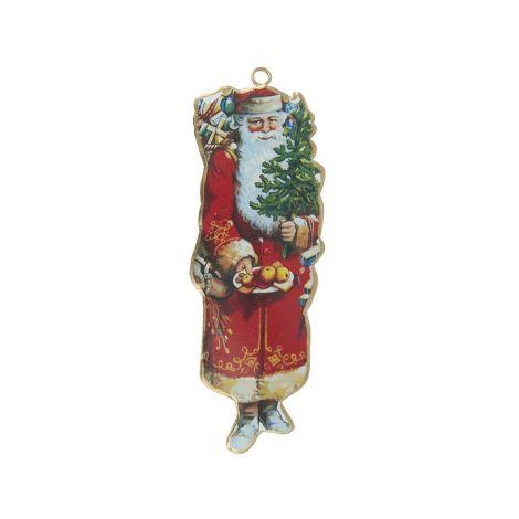 IB LAURSEN Deko-Anhänger Weihnachtsmann mit Obst in der Hand