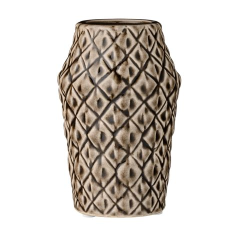 Bloomingville Porzellan-Vase Square Structure Dark Chocolate