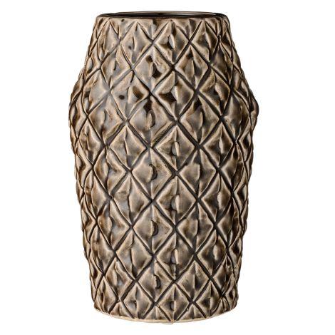 Bloomingville Porzellan-Vase Square Structure Dark Chocolate •