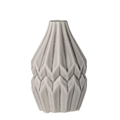 Bloomingville Porzellan-Vase Wide Flute Cool Grey