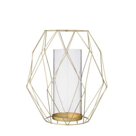 Bloomingville Windlicht Graphic Gold