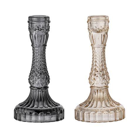 Bloomingville Kerzenhalter aus Glas 2er-Set