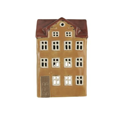 IB LAURSEN Teelichthalter Haus Nyhavn rotes Dach