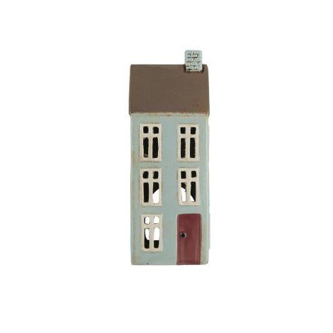 IB LAURSEN Teelichthalter Haus Nyhavn braunes Dach 1 Schornstein