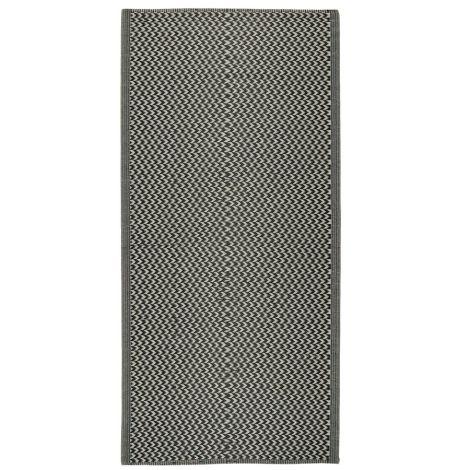 IB LAURSEN Teppich Gemustert Schwarz 90 x 180 cm