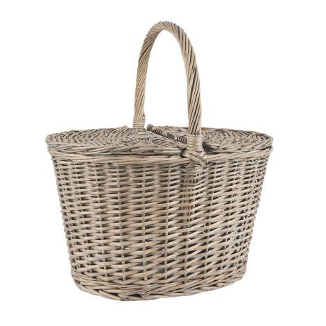 IB LAURSEN Picknickkorb mit Deckel Oval