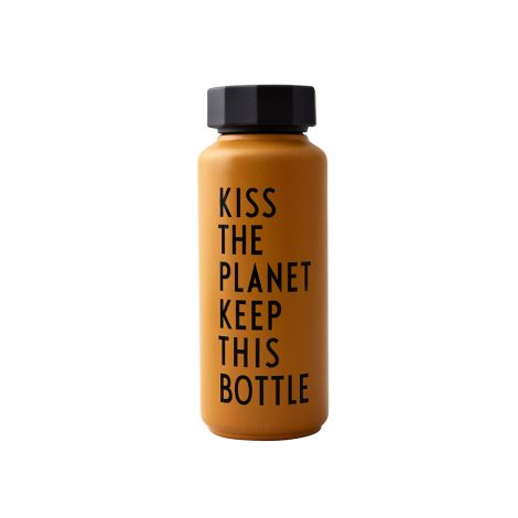 Design Letters Thermoflasche Special Edition Kiss The Planet Mustard