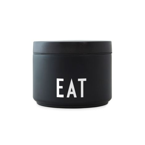 Design Letters Thermo Lunch Box Eat S Black